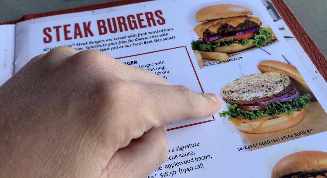 Hard Rock Cafe Vegas gold leaf burger