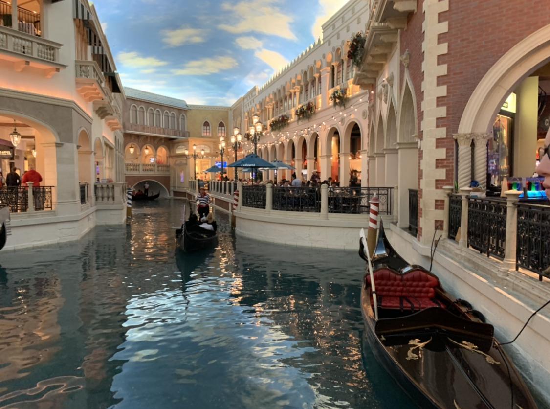 Venetian Hotel indoor gondola ride