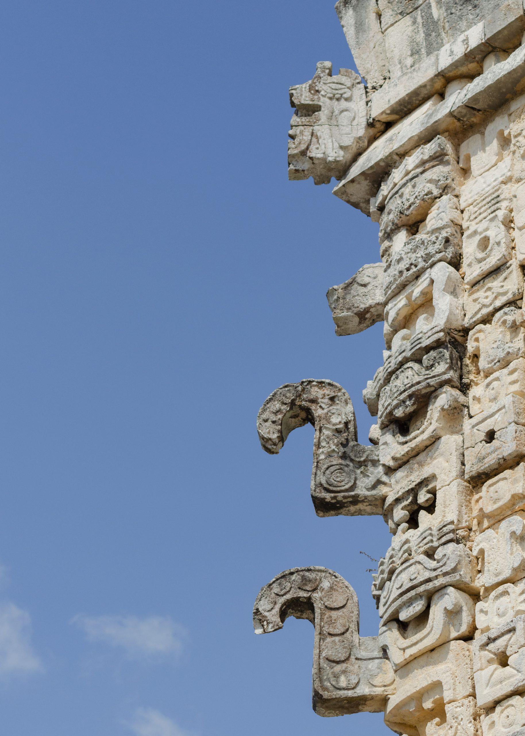 Architectural Details Uxmal Mayan Ruins Yucatan