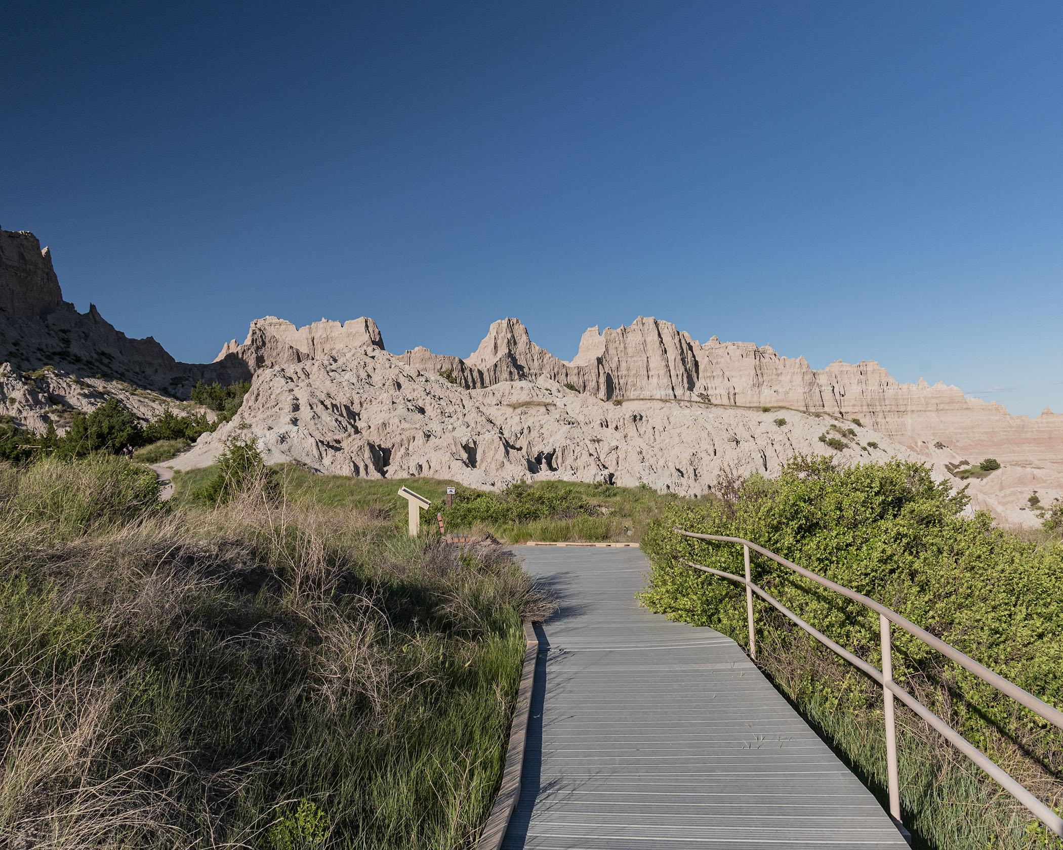 Badlands National Park Cliff Shelf Trail Boardwalk