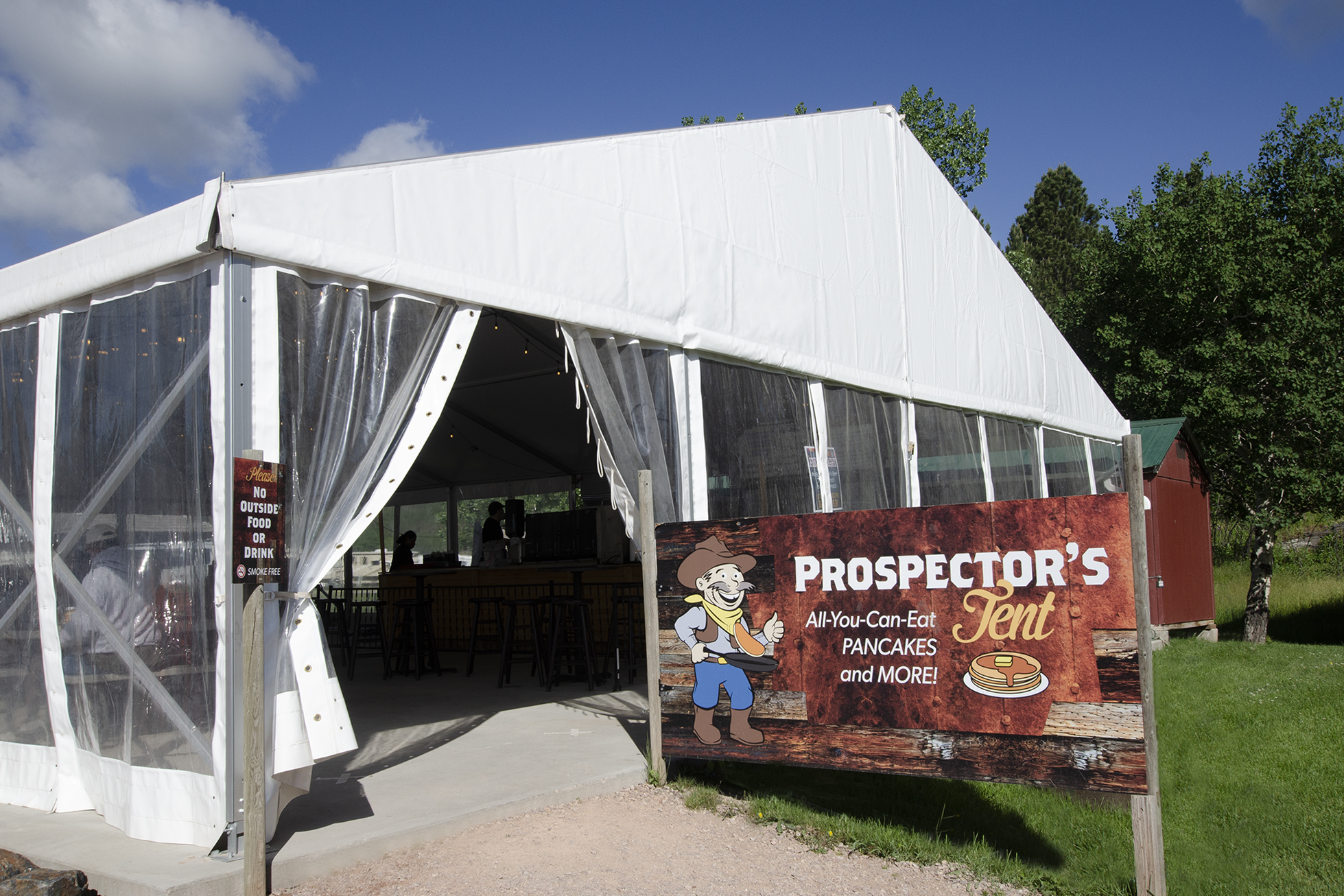 Mount Rushmore KOA Prospector's Tent All You Can Eat Pancake Breakfast