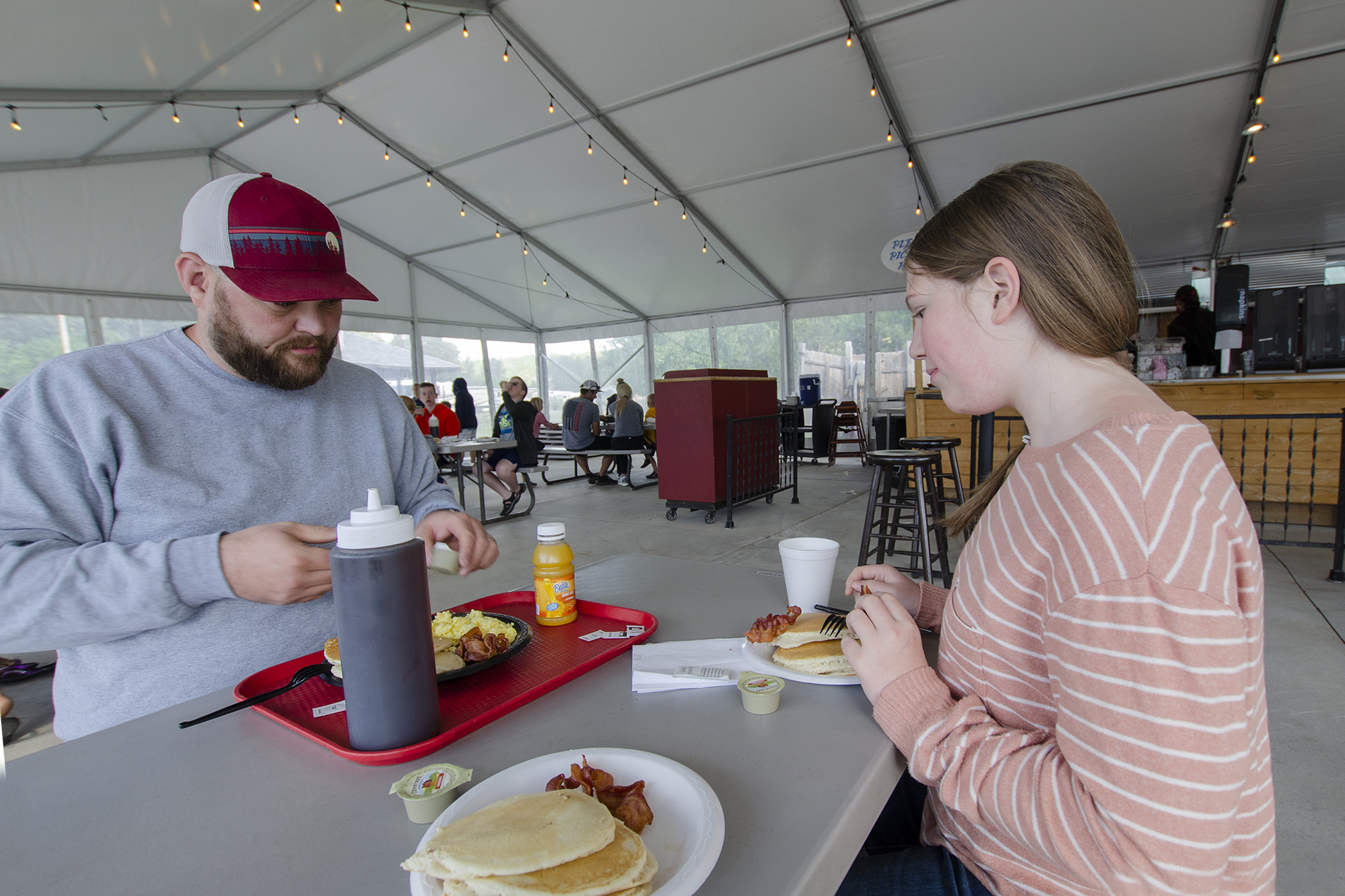 Pancake Breakfast at the Prospector's Tent