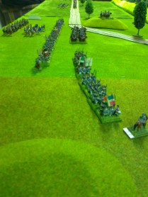 010 French infantry and cavalry moving up.