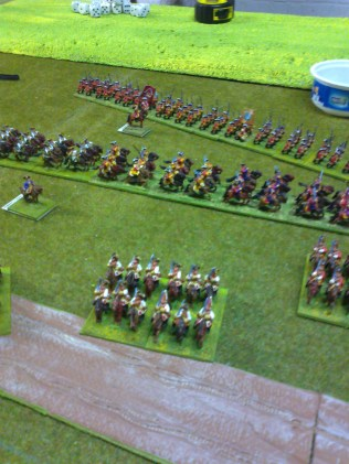 013 Hanoverians taking up position