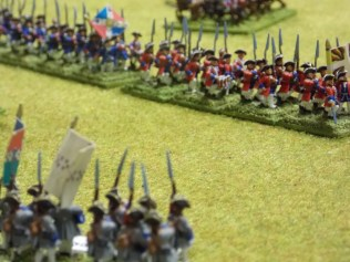 22. The Swiss regiments march past