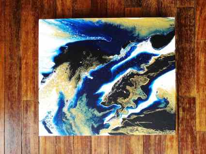 My very first pour and I love it because this just looks like an aerial view of the earth.