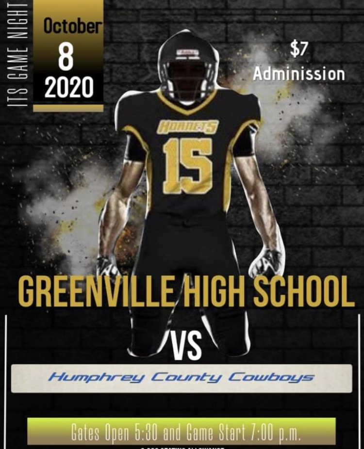 THE GREENVILLE HIGH SCHOOL HORNETS GAME CHANGED TIL TOMORROW