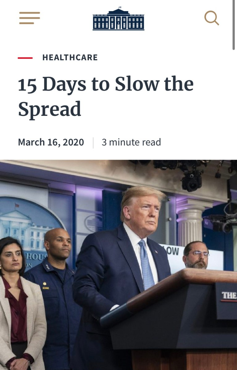 "Who Remembers ""15 Days To Stop The Spread""? When Will It End?"