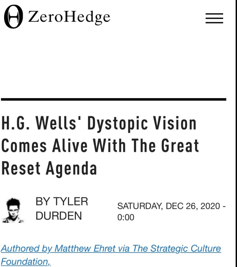 A Past Future Dystopian Society Is Now Our Reality, Kind of.