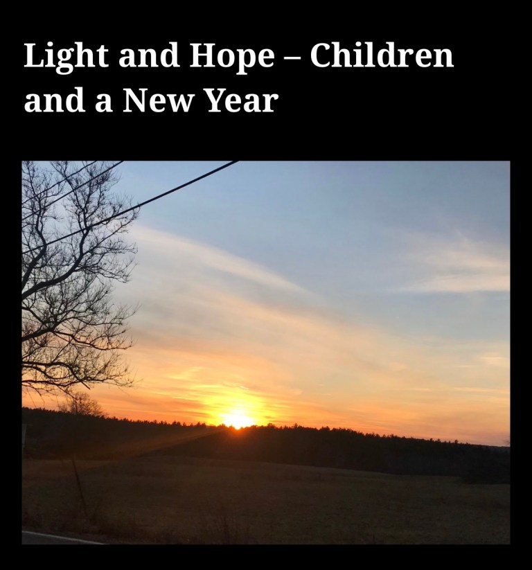 Light and Hope – Children and a New Year