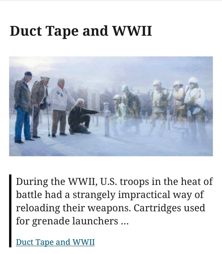Duct Tape and WWII