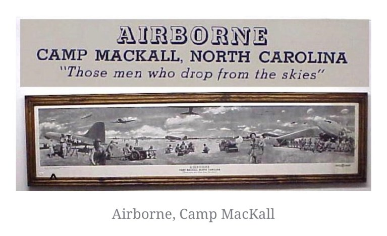 The Army Airborne and the start to Camp MacKall