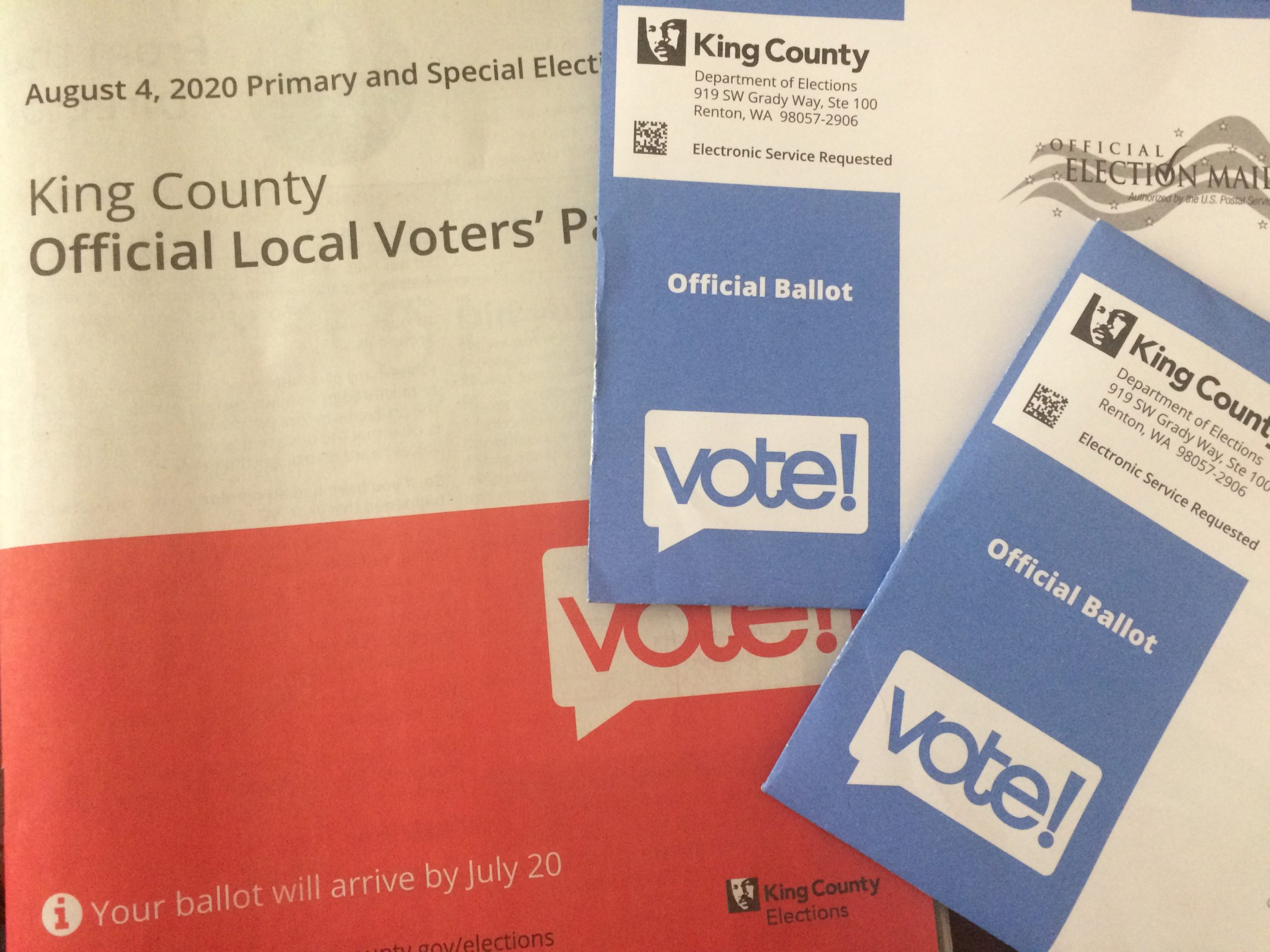2020 primary ballots