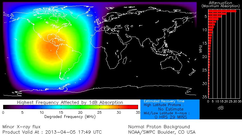 Global D absorción mapa - 05 de abril 2013