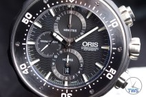 Unboxing Review: Oris ProDiver Chronograph 01 774 7683 7154-Set1 Front facing shot of Oris ProDiver front dial. With three chronograph sub-dials, crown and pushbuttons. © 2016 blog.thewatchsource.co.uk ALL RIGHTS RESERVED