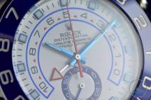 Light reflecting off the dial of the Rolex Yachtmaster II- Hands-On Review [116680]