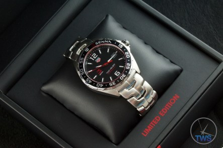 Senna Special Edition waz1012.ba0883 Watch Unboxing Review - Landscape diagonal photo of watch in box