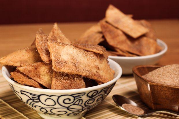 Fried Cinnamon Sugar Tortillas
