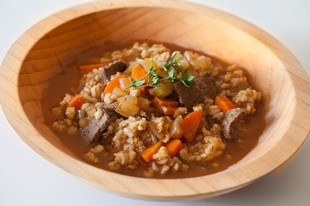 Quick Beef and Barley Stew