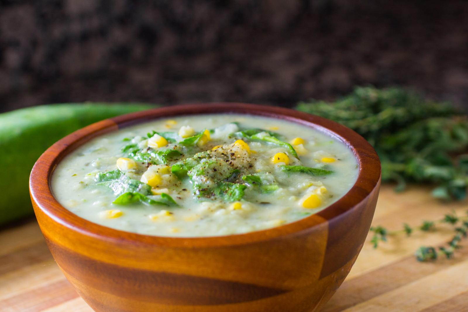 Creamy Zucchini and Corn Soup Recipe [video]