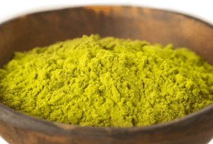 closeup of matcha tea powder