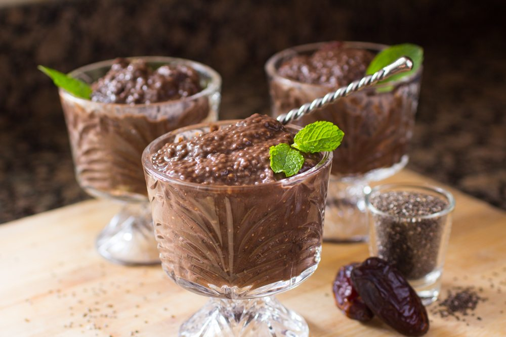 Chocolate Chia Seed Pudding Recipe (video) | Nutritarian | Vegan | Dairy-Free