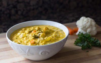 Dr. Fuhrman's Golden Austrian Cauliflower Cream Soup Recipe (video)   Nutritarian   Vegan