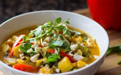 Thai Peanut Veggie Stirfry Recipe (video)   Nutritarian   Vegan