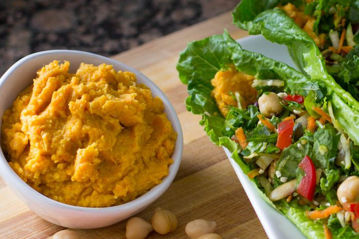 Curry Carrot Chickpea Hummus Recipe [SECRET INGREDIENT] | Nutritarian | Vegan