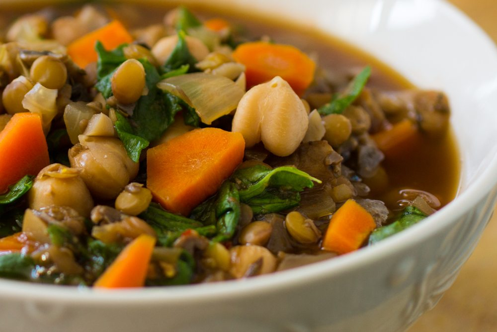 Easy Lentil Chickpea Stew Recipe | Nutritarian | Vegan