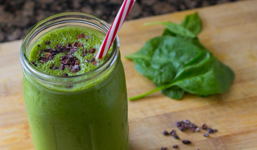 Mint Chocolate Chip Smoothie Recipe (video) | Nutritarian | Vegan