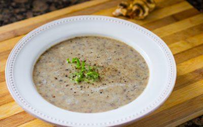 Easy Vegan Cream of Mushroom Soup Recipe (video) | Nutritarian | Dairy-Free
