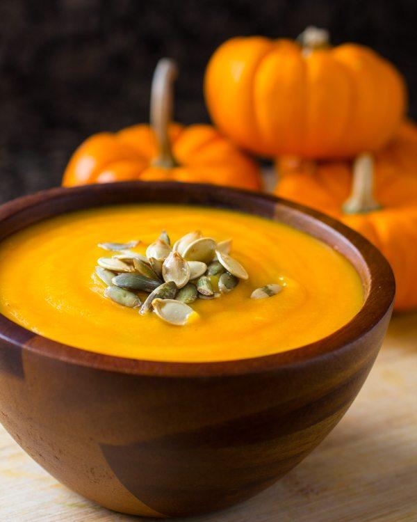 Easy Roasted Pumpkin Soup Recipe (VIDEO) | Nutritarian | Vegan