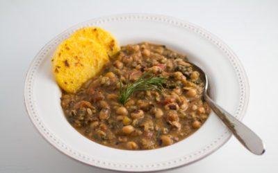 "Vegan ""Hoppin' John"" Recipe [Black-Eyed Peas, Rice and Greens Stew] Instant Pot & Standard | Nutritarian"