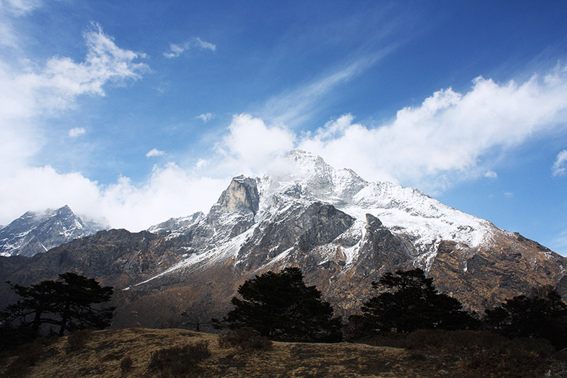mountains snow sky landscape photography everest base camp