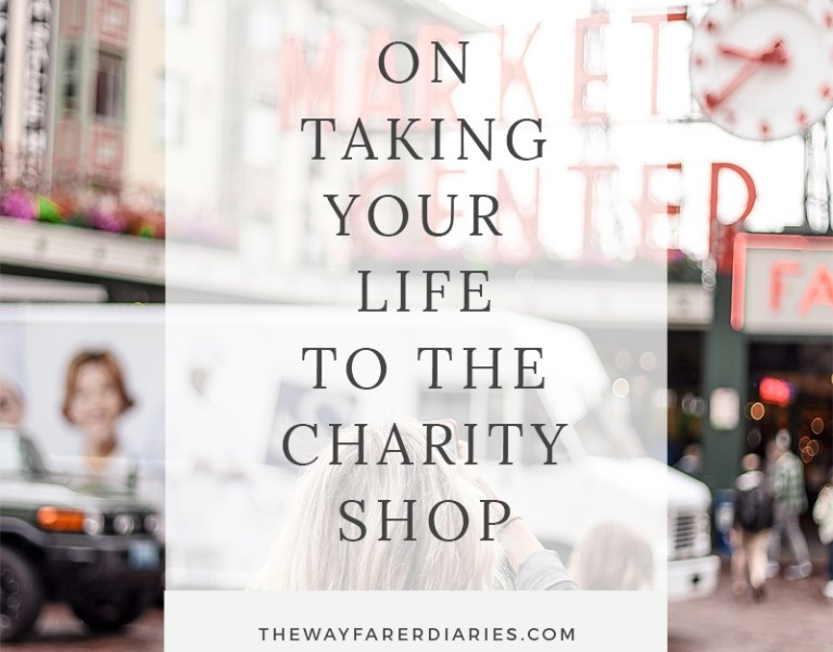 long term travel packing charity shop