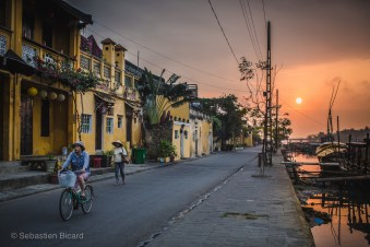 A stunning sunrise in the relative calm of the early morning in Hoi An. Within a few hours, the place will be alive with tourists. Vietnam, February 2014.