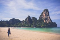 The rock climbers' (and beach combers') paradise of Railay Beach. Thailand, May 2014.