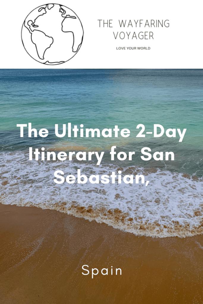 san sebastian itinerary