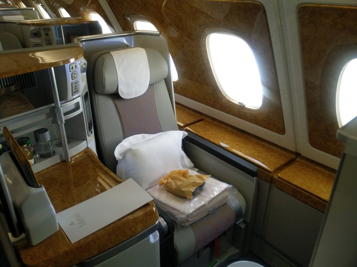 Private Suite in first class.