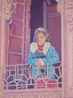 Little Girl in Window - Helena Anderson