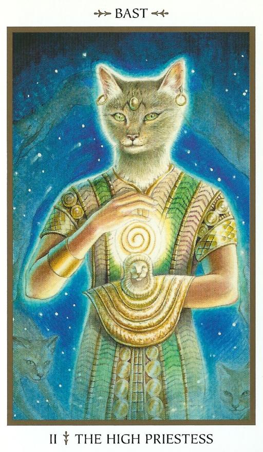 Pyreaus Tarot animals divine_The_High Priestess