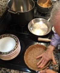 peter druian making piecrust WFPB