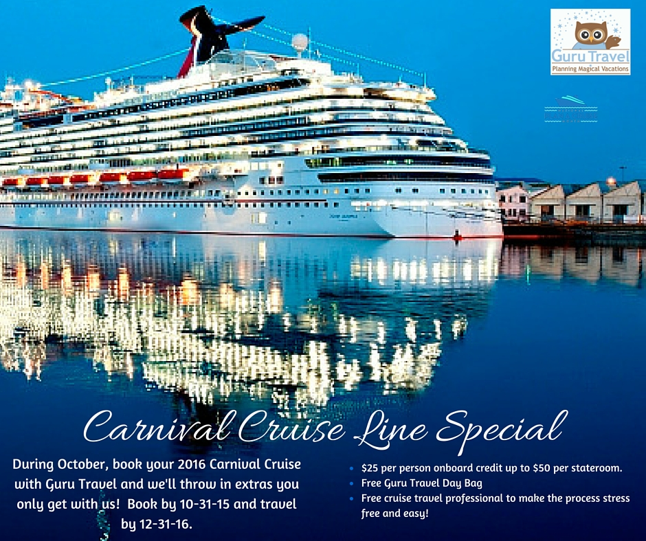 carinival cruise line special offers