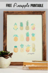 pineapple printable wall diy decor things hang print printables crafts inspired kitchen livelaughrowe cute room prints walls rowe laugh goodness