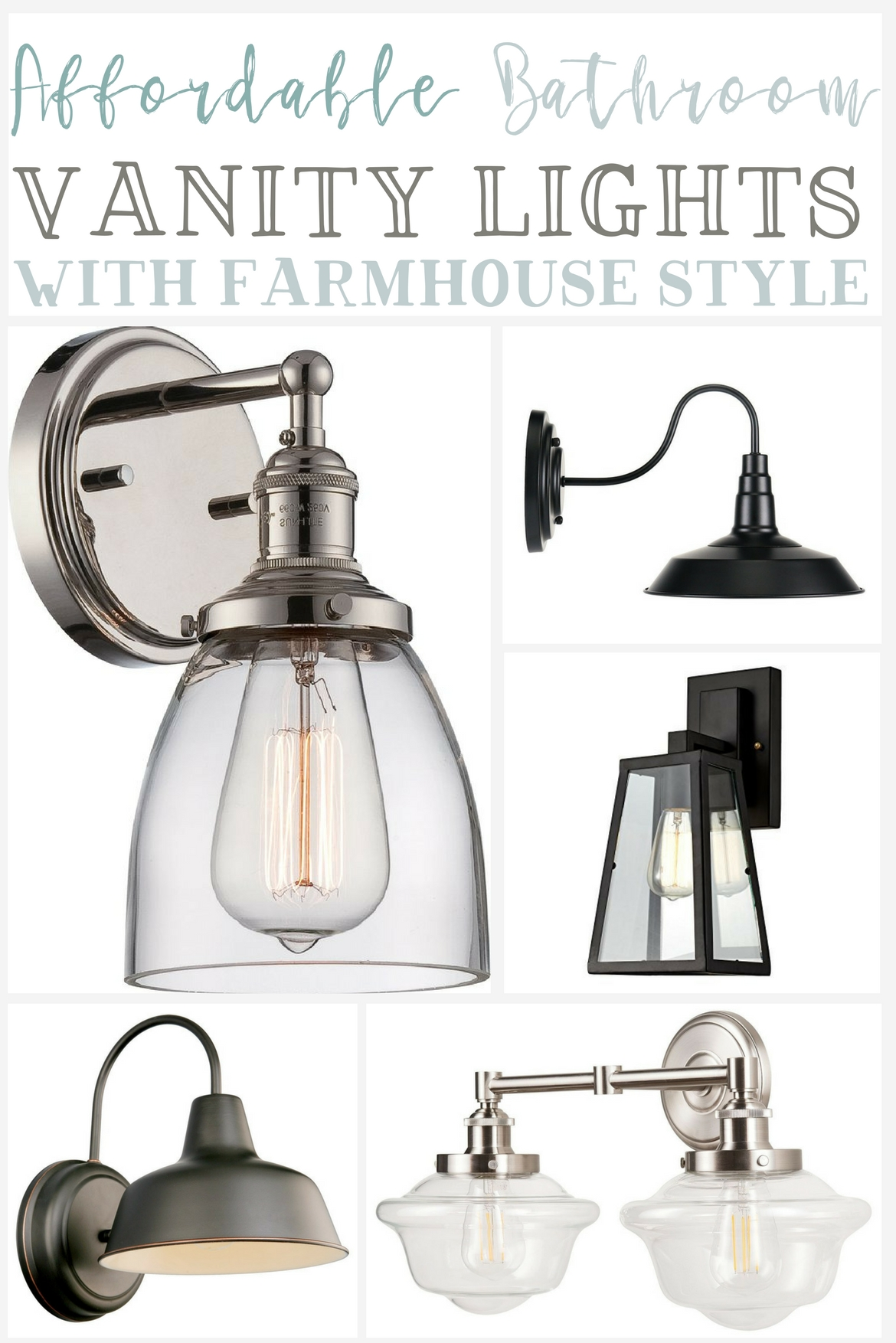Bathroom Light Fixtures Affordable Farmhouse Bathroom Vanity Lighting The Weathered Fox