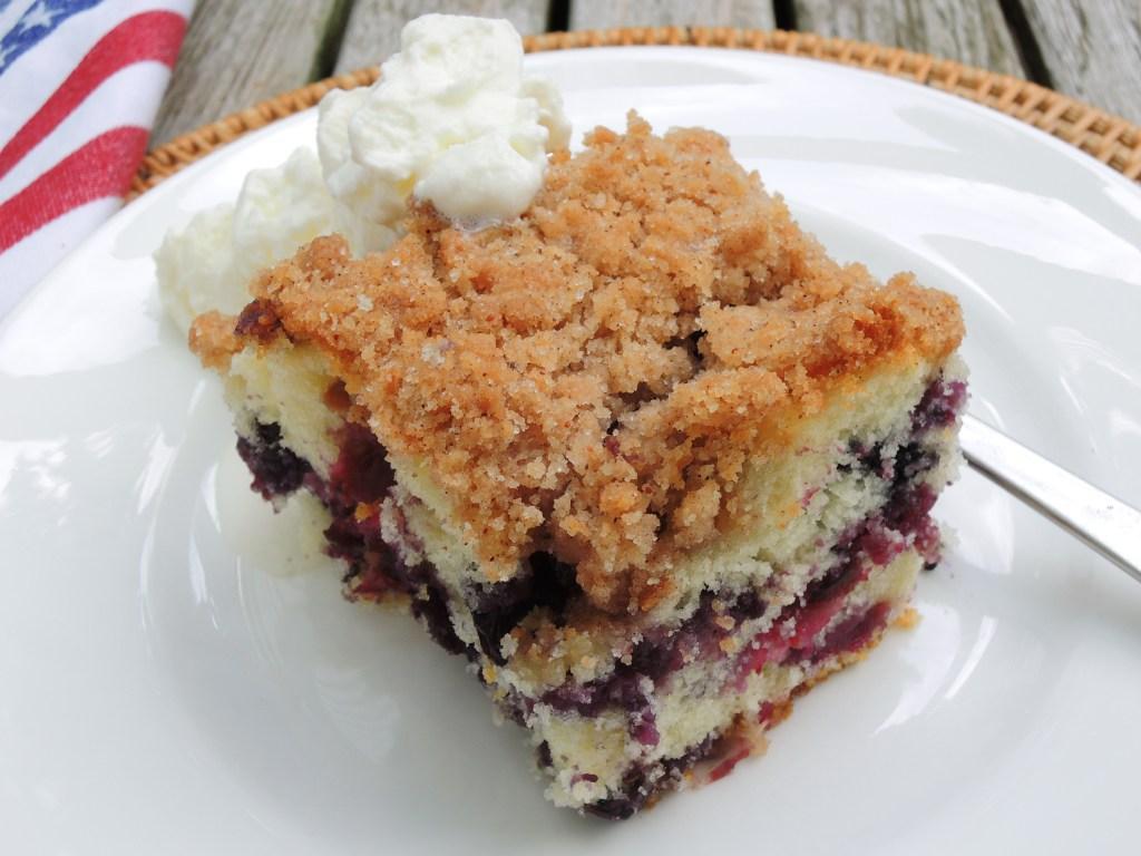 Desserts, fruit, baked, blueberry buckle 2