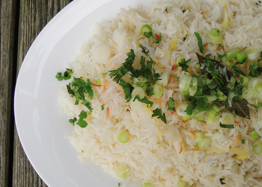Rice, white rice, coconut gingerroot rice (Southeast Asian) 2