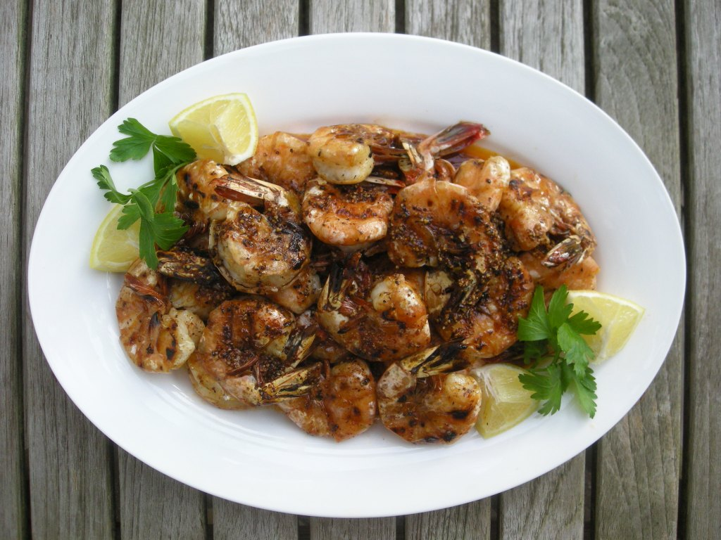 Shrimp, pan-grilled, New Orleans barbecued shrimp 1