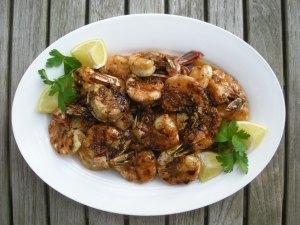 Shrimp, pan-grilled, New Orleans barbecued shrimp 1